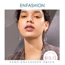 ENFASHION Water Droplets Crystal Drop Earrings For Women Gold Color Long Dangle Earings Fashion Jewelry Dropshipping E191145