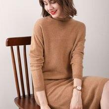 Женское зимнее платье свитер sparsil из 100% кашемира с круглым