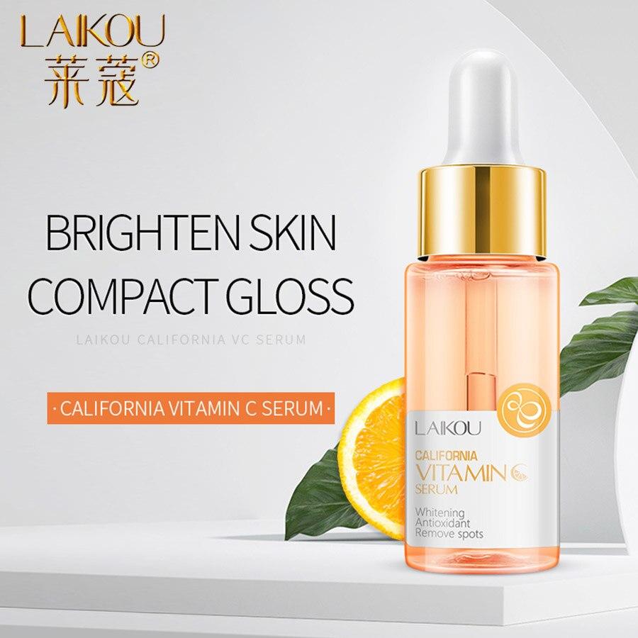 LAIKOU suero con estampado de acné, esencia de vitamina C, antienvejecimiento, blanqueamiento puro, hidratación, suero facial para el cuidado de la piel normal|Suero| - AliExpress