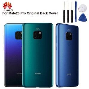 Image 1 - מקורי חזרה הסוללה כיסוי שיכון עבור Huawei Mate 20 פרו Mate20 פרו סוללה חזרה אחורי זכוכית מקרה