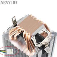 Alta qualidade 4pin cpu cooler 115x 1366 2011,6 heatpipe duplo-torre de resfriamento 9cm ventilador, suporte intel amd