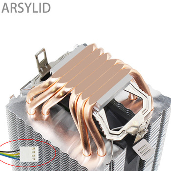 Haute qualité 4PIN refroidisseur de processeur 115X 1366 2011,6 heatpipe double tour de refroidissement 9cm ventilateur, prise en charge Intel AMD
