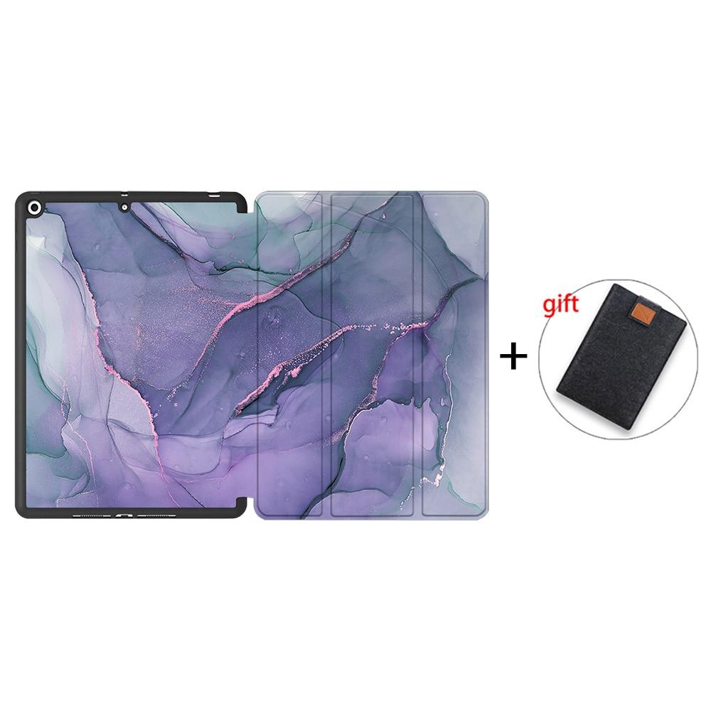 IPTPU11 Gold MTT Soft TPU Back Case For iPad 10 2 inch 7th 8th Gen Marble PU Leather