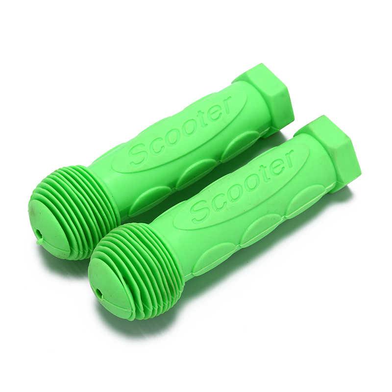 1 par de empuñaduras de manillar de bicicleta de goma para niños monopatín para cochecito de bicicleta
