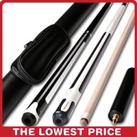 10/11.5/12.75mm 58 Inch Billiards Snooker Maple Pool Cue Stick With Cue Tip For Nine ball Ball Come With Extension
