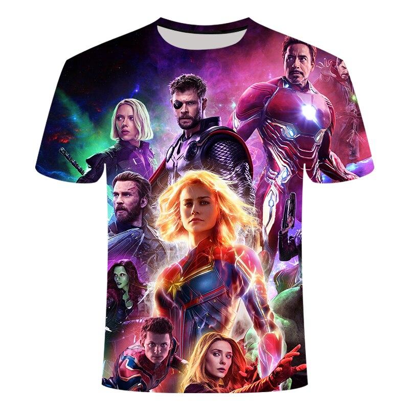 2019 New Design T Shirt Men/women Avengers Endgame 3D Print T-shirts MAN Short Sleeve Harajuku Style Tshirt Tops