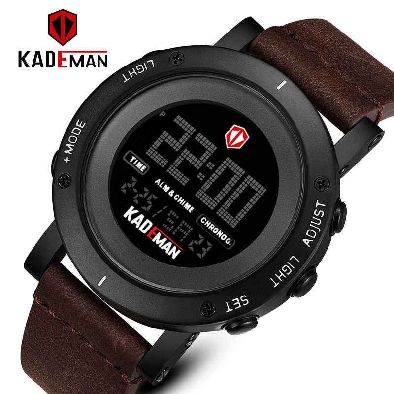 Kademan Top Luxe Sport Horloges Mannen Waterdichte Led Digitale Horloge Fashion Casual Mannen Horloges Klok Relogio Masculino