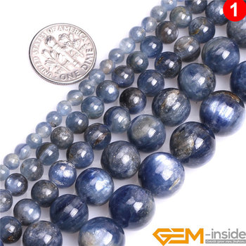 Natural Stone Round Blue Kyanite Beads For Jewelry Making Strand 15 DIY Bracelet Necklace Loose Bead 4mm 6mm 8mm 10mm 12mm 5mm 6mm natural pietersite stone beads natural gem stone beads diy loose beads for jewelry making strand 15free shipping
