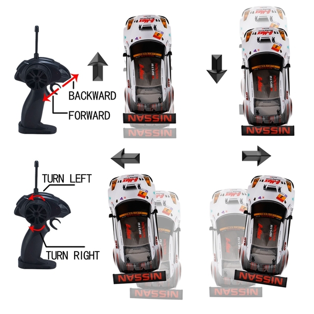 2.4G 4WD Drive Rapid Drift Car Remote Control GT-R NISMO GT3 Car Radio Control Off-Road Vehicle RC Car Drift High Speed Model Ca 5