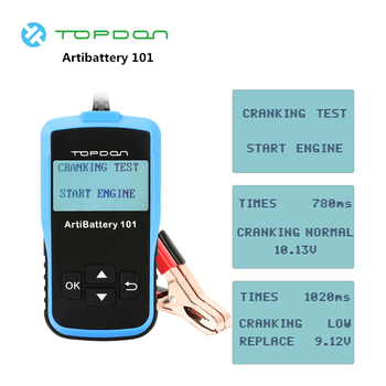 TOPDON Universal Multifunction 12V Battery Tester Car Digital Analyzer Automotive Load Cranking Charging
