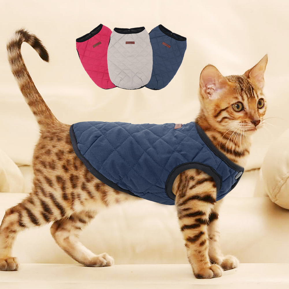 Cat Dog Clothes Chihuahua Kitten Clothes Outfit Dog Jacket Vest Winter Clothes Pet Puppy Coat Clothing For Small Medium Cat Dogs