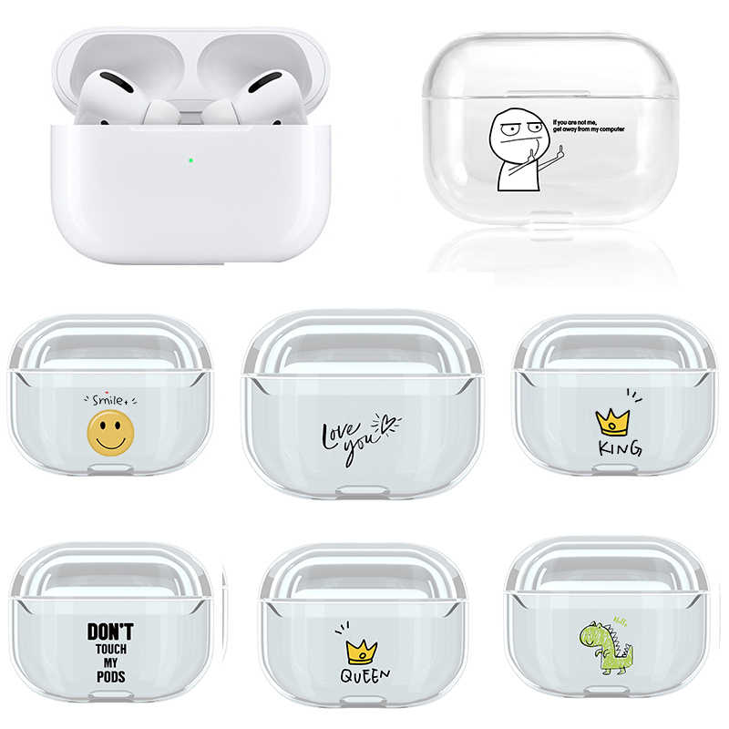 Case For Airpods Pro Case Cute Transparent Hard Plastic Wireless