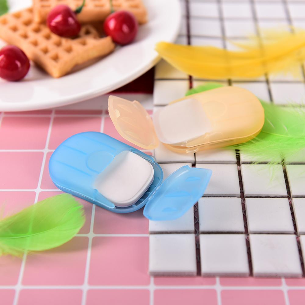 Portable Soluble Disinfectant Soap Paper Foaming Paper Soap Flakes Travel Outdoor Washing Cleaning Hand Commute Before Meal