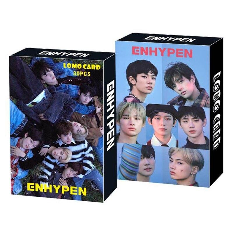 30 шт./компл. Kpop ENHYPEN Treasure TXT Фотокарта HD фотоальбом Фотокарта LOMO Card для поклонников подарок
