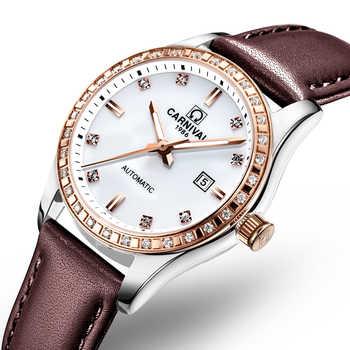 Schweiz Karneval Frauen Uhren Luxus Marke damen Automatische Mechanische Uhr Frauen Wasserdichte relogio feminino 8685L-4