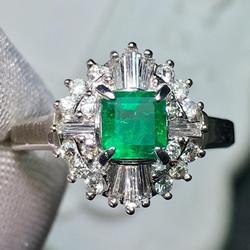 Изящные Ювелирные изделия, реальные Платиновые бриллианты Pt900, женское кольцо из золота 0,46ct для женщин, кольца