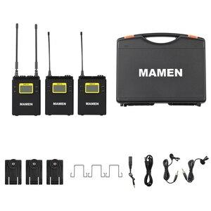Image 5 - MAMEN UHF çift kanallı dijital kablosuz mikrofon sistemi 2bTransmitters 1 alıcı için kameralı telefon Video ses kayıt