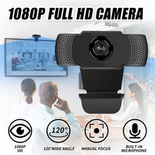 Full HD 1080P Web Cam Desktop PC Video Calling Webcam Camera with Microphone for Live Broadcast Video Calling Conference Work