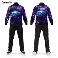 Custom Your Own Starry Sky Design Fitted Soccer Tracksuit Custom Team Sports Sweatsuit