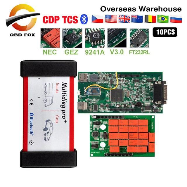 Multidiag pro Double carte pcb verte TCS PRO Bluetooth 2015.r3 keygen logiciel 2019 outil de diagnostic de voiture chaude 10 pièces/lot DHL gratuit