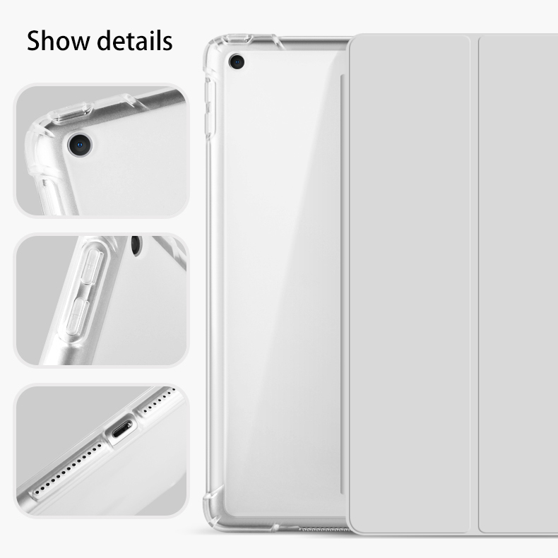 With Pencil Holder For iPad AIR 3 10.5 Pro 11 2020 Air 4 10.9 2018 9.7 6th 7th 8th Generation Case 10.2 2019 Mini 5 Funda Capa-4