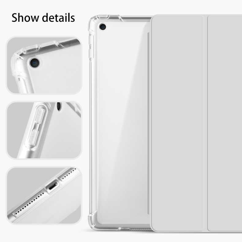 مع حافظة حامل أقلام رصاص لأجهزة iPad AIR 3 10.5 2019 A2153 A2123 A2152 A2154 PU غطاء ذكي من الجلد غطاء حماية للسيارة ويك إير 3
