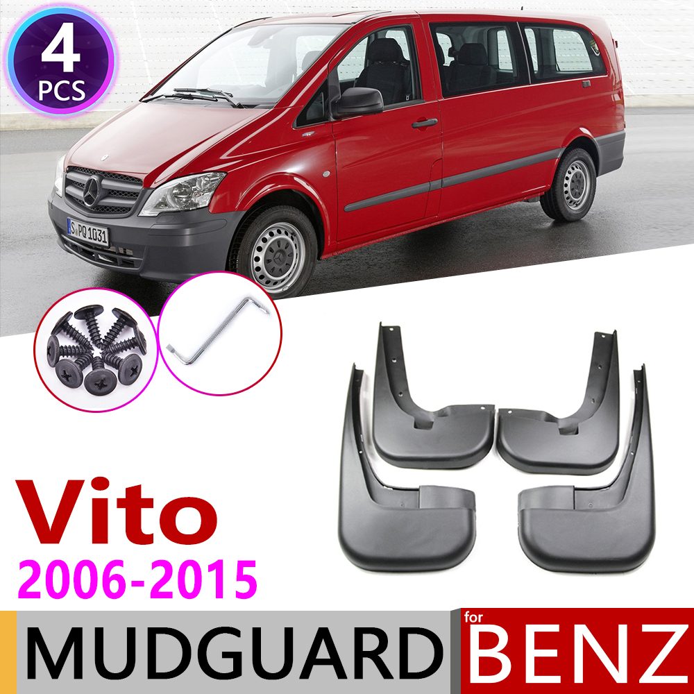 Mudflap for Mercedes Benz Vito Viano 2006 2015 W639 Fender Mud Guard Splash Flap Mudguards Accessories 2007 2008 2009 2010 2011