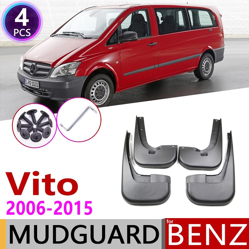 Mudflap For Mercedes Benz Vito Viano 2006~2015 W639 Fender Mud Guard Splash Flap Mudguards Accessories 2007 2008 2009 2010 2011