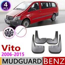 Mudflap para Mercedes Benz Vito Viano 2006 ~ 2015 Mudguards Fender Mud Proteção Contra Respingos Flap W639 Acessórios 2007 2008 2009 2010 2011
