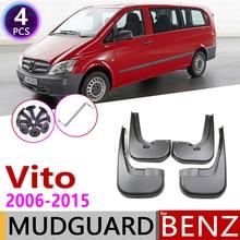 Paraspruzzi per Mercedes Benz Vito Viano 2006 ~ 2015 W639 Parafango Guardia Mud Splash Flap Parafanghi Accessori 2007 2008 2009 2010 2011