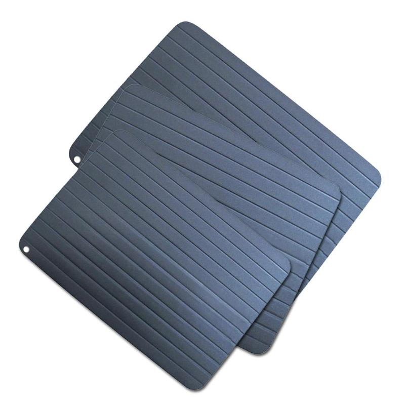 Fast Defrost Tray Thaw Frozen Food Meat Fish In Minutes Kitchen Defrosting Tray No Electricity Chemicals Microwave Mat