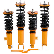 Coilover Shock Absorber 닛산 Z32 300ZX 용 조절 가능한 높이 충격 서스펜션 스트럿츠 Absorber Coil Spring Over struts