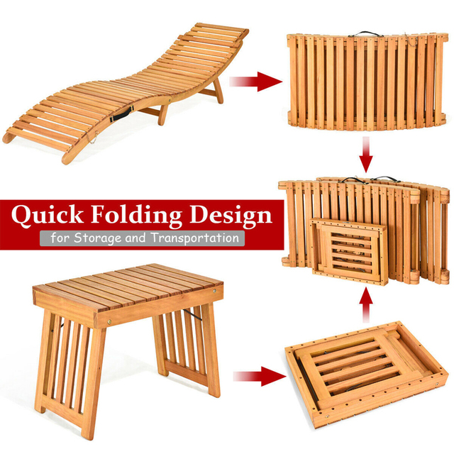 3PCS  Patio Lounge Chair Set  4