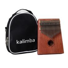 Sticker Keyboard-Instrument Mahogany Tuning-Hammer Mbira Thumb-Piano Kalimba Acacia 17-Keys