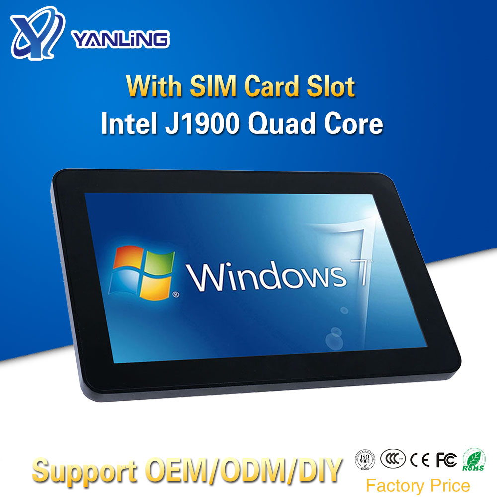 Yanling 10.1 Inch Ten Point Touch Capacitive Screen All-in-one Panel PC Intel J1900 CPU 1280*800 Resolution Multimedia Computer