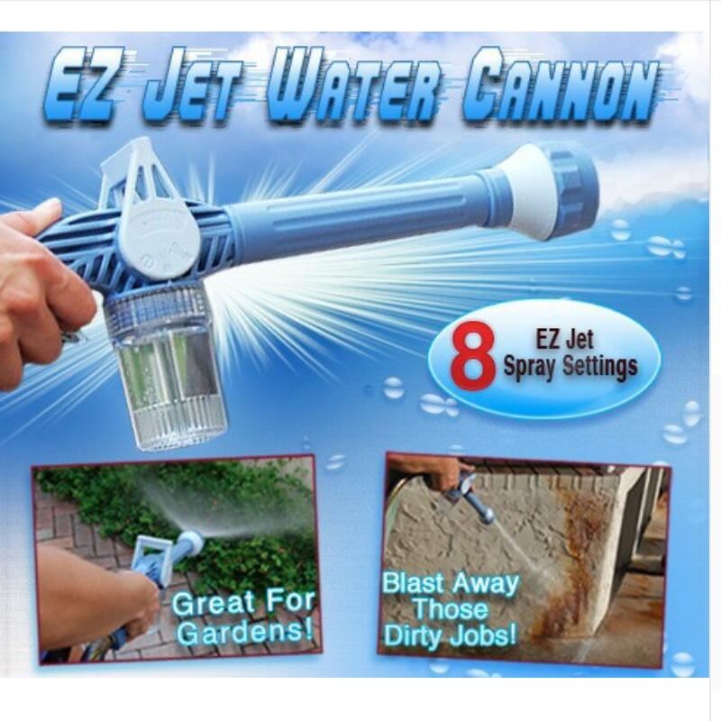 Multifunction 8 In 1 Turbo Spray Gun Garden Sprayer Plastic Garden Hose Pipe Conector Function Ez Jet Water Cannon