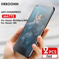 Protector de pantalla de vidrio templado mate para Huawei Honor 20 pro 20 s V20, luz azul, 4 estilos, 2 unidades por lote