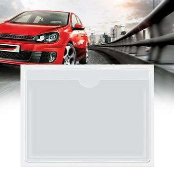 Adhesive label bag transparent card sleeve self-adhesive parking car card sticker price windshield plastic permit sleeve pl G4G7 image