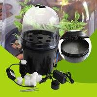 8 netto cup Mist Propagator Aeroponic emmer met cyclus timer kwekerij pot. Grondloze cultuur, Gratis verzending
