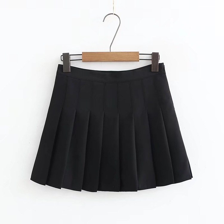 Spring Clothing New Style College Style Chiffon Skirt Student A- Line Pleated Skirt Anti-Exposure Short Culottes Women's S4030