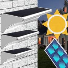 Solar Light Outdoor Led Lamp Garden Night Lights With Motion Sensor Garland Lighting Nightnight Street Wall Aluminum Waterproof