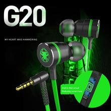 G20 Bass Hammerhead Gaming Earbuds Earpiece Stereo Wired Magnetic Earphone With