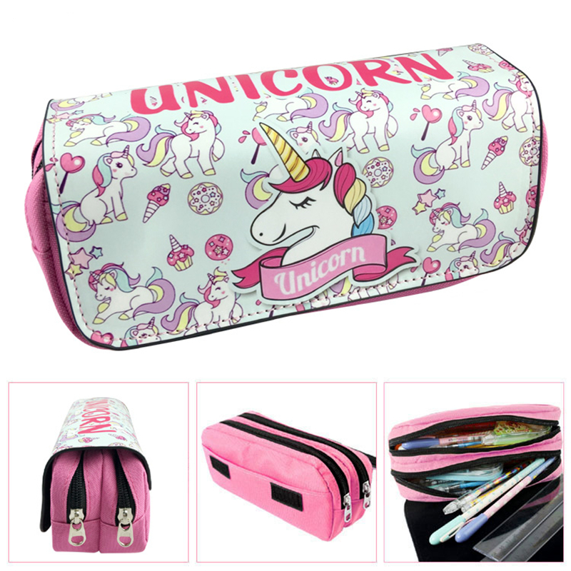 Unicorn Big Capacity Pencil Case Quality Pouch Can Hold 80 Pencil Unicorn School Supplies Stationery Pencilcase Pencil Bag