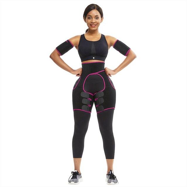 TOP!-Slim Thigh Trimmer Leg Shapers Slender Slimming Belt Neoprene Sweat Shapewear Toned Muscles Band Thigh Slimmer Wrap M 1