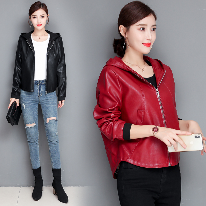 Large Size M L XL XXL 3XL 4XL Women's   Leather   Jacket 2019 Autumn   Leather   Jacket Women   Leather   Coat Female Jackets Outerwear New