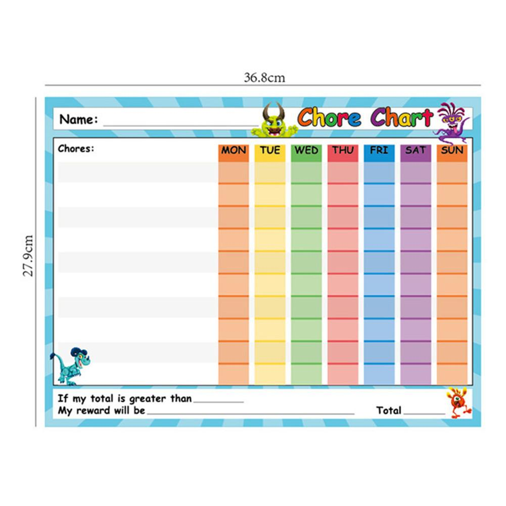 Miscellaneous Chart - Children's 6 Pack Dry Wipe Awards, Reusable Self-adhesive Potty Chart For Home And Classroom, 14.5 X 11 In