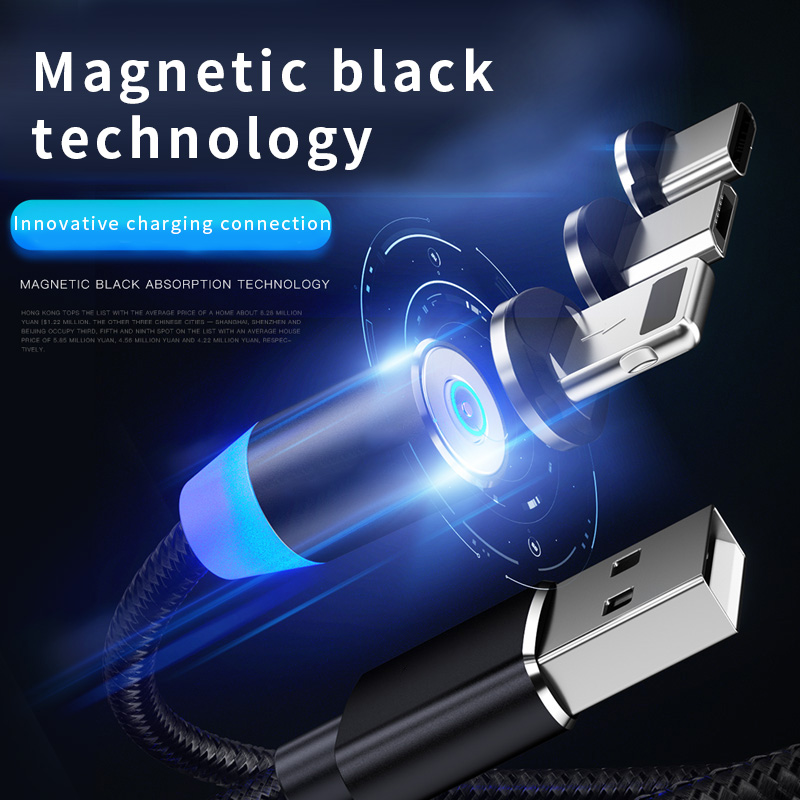 Magnetic Plug USB Cable Fast Charging For Iphone TYPE-C Micro USB Data cable for Xiaomi Redmi <font><b>Samsung</b></font> Android IOS 1m 2m line image