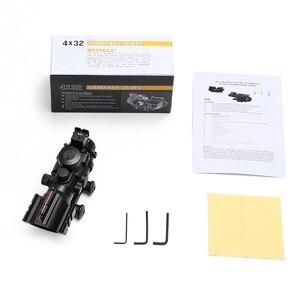 Image 5 - 4x32 Acog luneta 20mm jaskółczy ogon Reflex optyka zakres Tactical Sight dla polowanie Gun Rifle Airsoft Sniper lupa