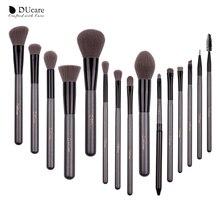 DUcare 化粧ブラシセット 15 個の高品質のプロフェッショナルブラシセットポータブルミラー化粧品ブラシメイクアップバッグ