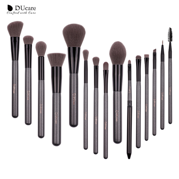 DUcare Make-Up Pinsel Sets 15PCS hohe qualität Profi pinsel set mit Portable Spiegel kosmetik make-up pinsel mit tasche